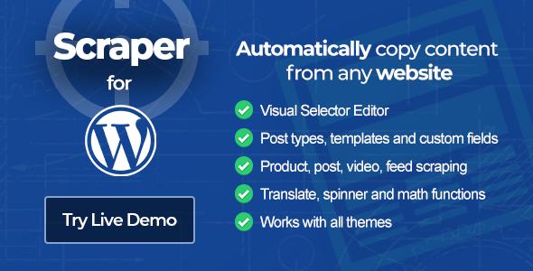 Scraper - Content Crawler Plugin for Wordpress Free Download #1 free download Scraper - Content Crawler Plugin for Wordpress Free Download #1 nulled Scraper - Content Crawler Plugin for Wordpress Free Download #1