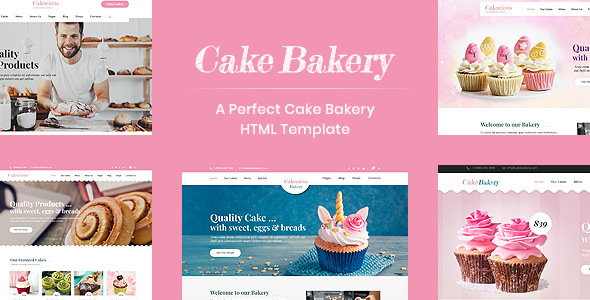 Cake Bakery - A Template for Cake and Bakery