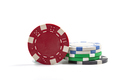 Casino Chips On White - PhotoDune Item for Sale