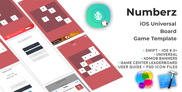 Numberz | iOS Universal Board Game Template (Swift) Download