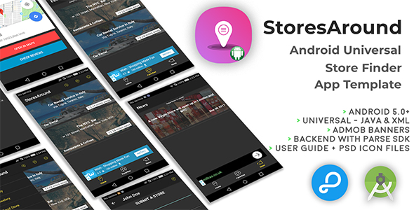 StoresAround   Android Universal Store Finder App Template Download