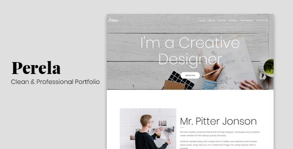 Perela - Clean & Professional Portfolio
