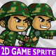 Green Soldier 2D Game Character Sprite - GraphicRiver Item for Sale