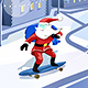 Santa Skateboarding in City Street - GraphicRiver Item for Sale
