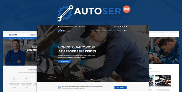 Autoser - Car Repair and Auto Service WordPress Theme