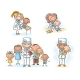 Family Doctor with His Patients, Cartoon Graphics - GraphicRiver Item for Sale