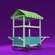 Lowpoly cart - 3DOcean Item for Sale