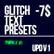 Glitch Text Presets Pack - VideoHive Item for Sale