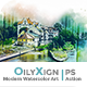 OilyXign - Modern Watercolor Art   PS Action - GraphicRiver Item for Sale