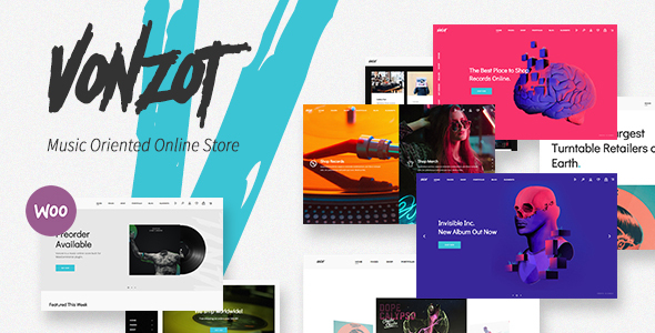 Vonzot - Music Oriented WooCommerce Theme