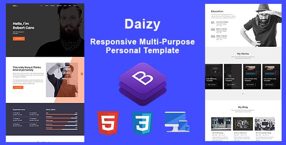 Daizy-Personal Portfolio Template