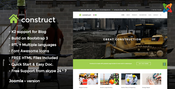 Construct - Construction Joomla Template