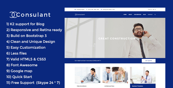 Consulant - Corporate & Business Joomla Template