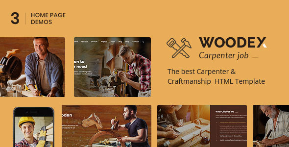 Woodex - Carpenter and Craftman Business HTML Template