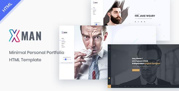 Xman - vCard / Resume / CV / Portfolio Template