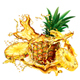 Pineapple into of Splashes Juices - GraphicRiver Item for Sale