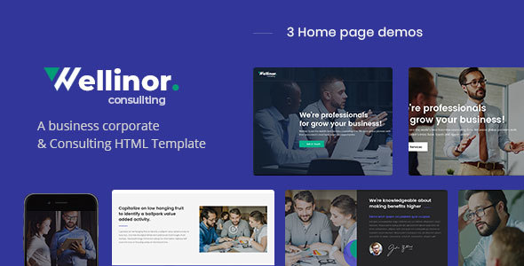 Wellinor - Business Consulting HTML Template
