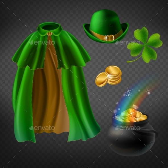 Vector Set of Saint Patricks Day Elements