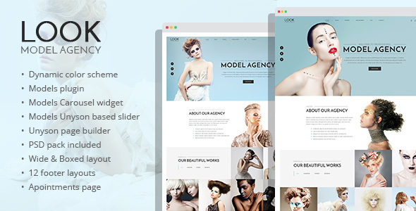 Look - fashion and model portfolio WordPress theme