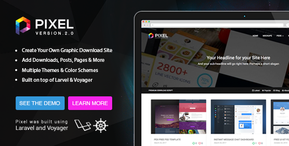 Pixel v2 - Premium Download Script
