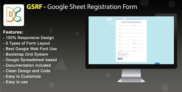 GSRF - Google Sheet Registration Form