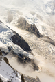Rock structure of Mont-Blanc Montain with snow, french alps - PhotoDune Item for Sale