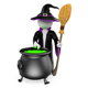 3D White People. Witch Cooking a Magical Potion. Halloween - GraphicRiver Item for Sale