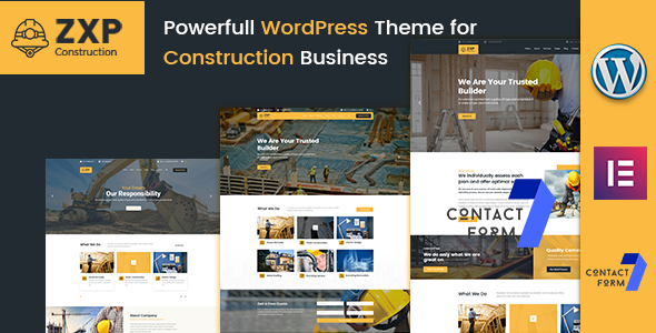 ZXP - Construction Building Company WordPress Theme