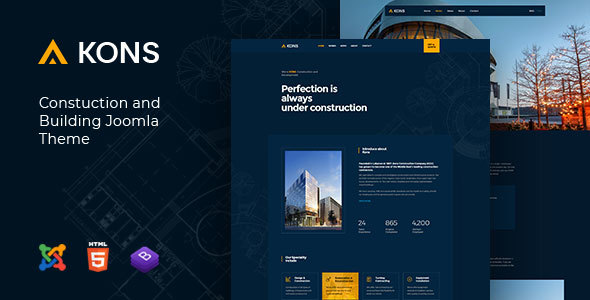 Kons - Construction and Building Joomla Theme