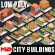 Low Poly City Buildings Pack - 3DOcean Item for Sale