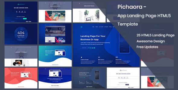 Pichaora - App Landing Page HTML5 Template