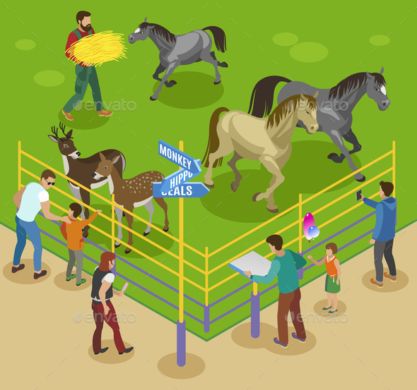Petting Farm Zoo Composition