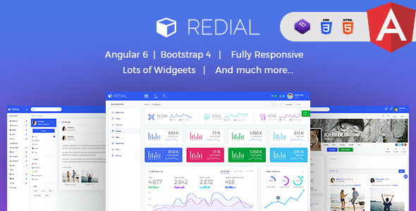 Redial - Multipurpose Angular 6 and Bootstrap 4 Admin Template