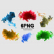PNG Acrylic Colors and Ink in Water - GraphicRiver Item for Sale