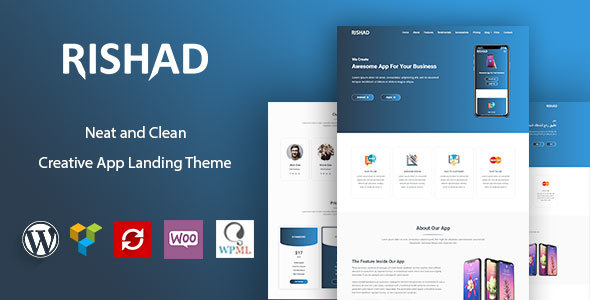 Rishad - App Landing WordPress Theme