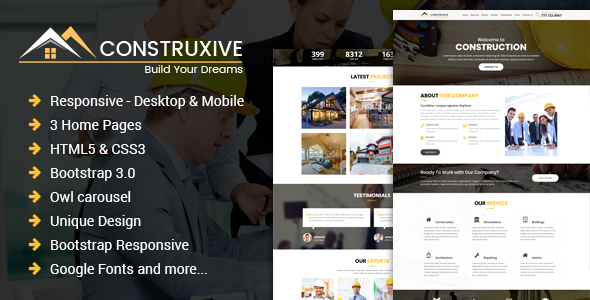 Construcxive - One Page Construction HTML Template