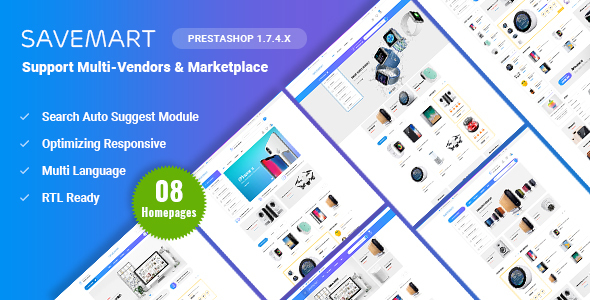 Savemart - Multi-Vendor & Marketplace eCommerce Prestashop 1.7 Theme