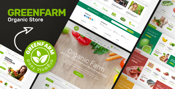 Greenfarm - Organic Theme for WooCommerce WordPress