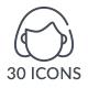 30 Line Icon Set - GraphicRiver Item for Sale