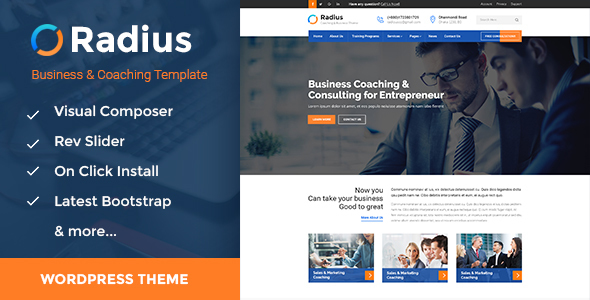 Radius - Business Training WordPress Theme