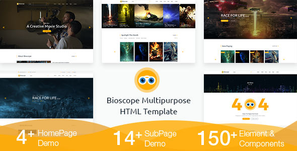 Bioscope - A Complete Video and Film Agency HTML Template