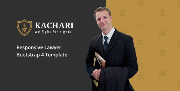 Kachari - Personal Lawyer Bootstrap4 Template