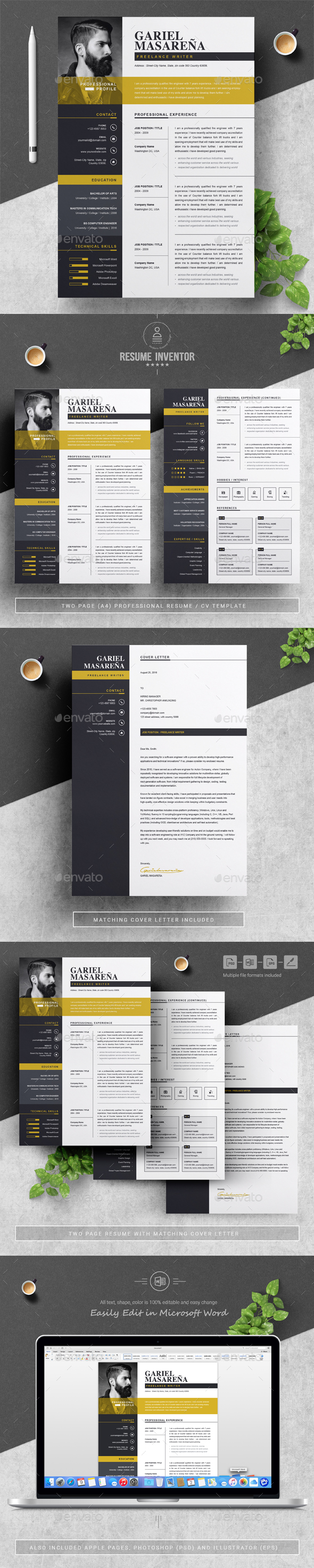 Microsoft Word Graphics Designs Templates From Graphicriver