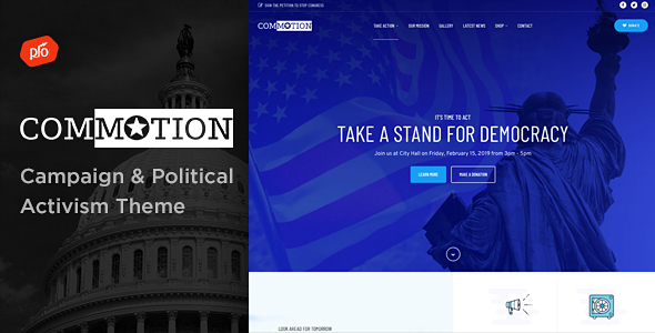 Commotion - Campaign & Political Activism Theme
