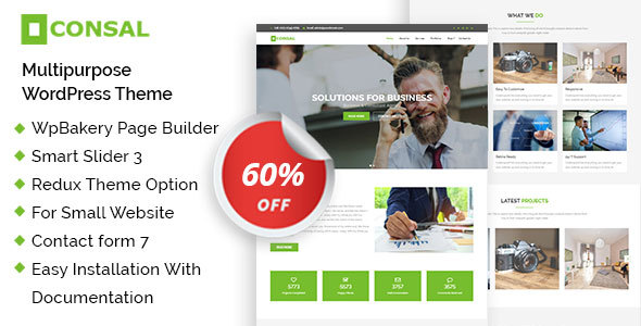 Consal - Corporate Business Agency WordPress Theme