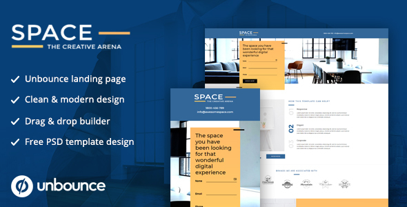Unbounce Landing Page Template - SPACE