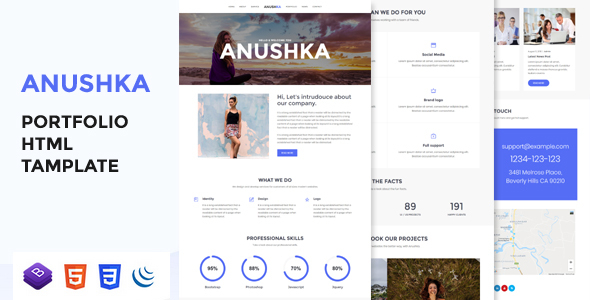 Anushka - Portfolio HTML Template