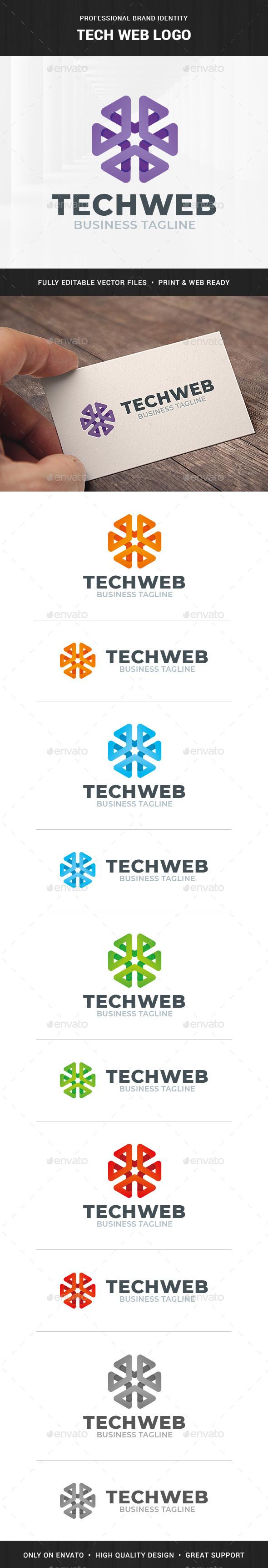Tech Web Logo Template