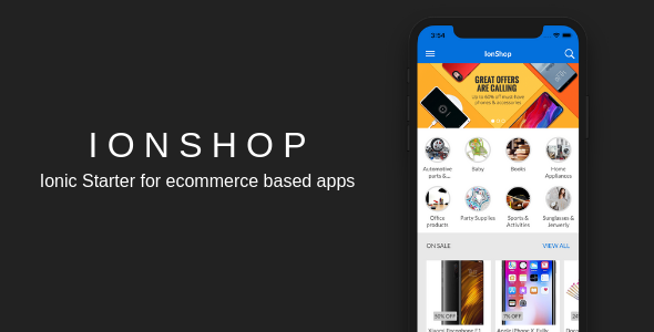 IonShop - Ionic 3 Starter for Ecommerce Based Apps