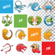 Colorful Zodiac Sign Sketches - GraphicRiver Item for Sale